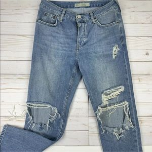 Topshop Motto Womens 26x30 Hayden Jeans Distressed